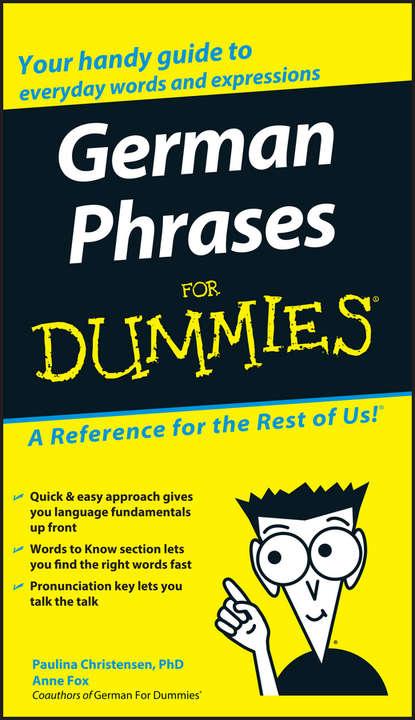 Обложка «German Phrases For Dummies»
