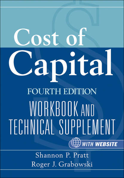 Обложка «Cost of Capital. Workbook and Technical Supplement»