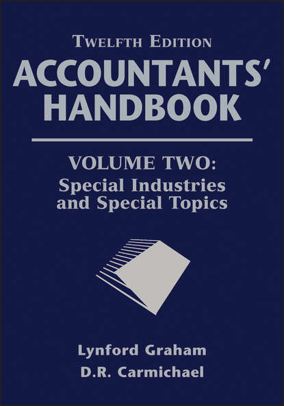 Обложка «Accountants' Handbook, Special Industries and Special Topics»