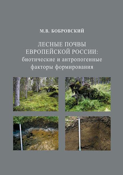 Обложка «Лесные почвы Европейской России: биотические и антропогенные факторы формирования»