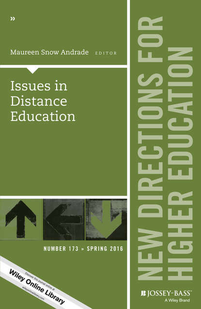 Обложка «Issues in Distance Education. New Directions for Higher Education, Number 173»