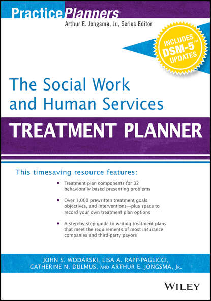 Обложка «The Social Work and Human Services Treatment Planner, with DSM 5 Updates»
