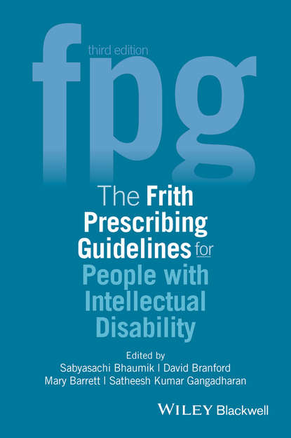 Обложка «The Frith Prescribing Guidelines for People with Intellectual Disability»