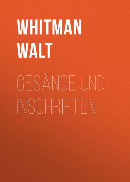 Обложка «Gesänge und Inschriften»