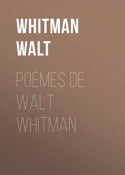 Обложка «Poèmes de Walt Whitman»