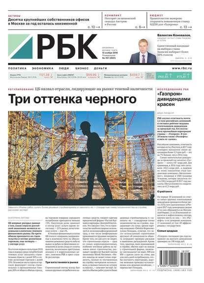 Обложка «Ежедневная Деловая Газета Рбк 197-2018»