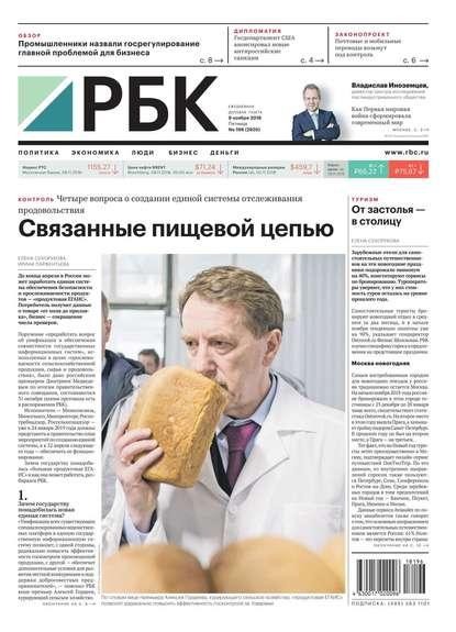 Обложка «Ежедневная Деловая Газета Рбк 196-2018»