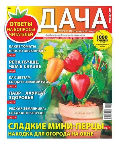 Обложка «Дача Pressa.ru 22-2018»