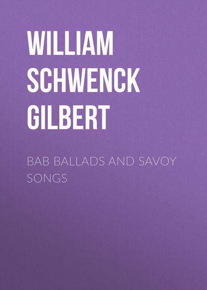 Обложка «Bab Ballads and Savoy Songs»