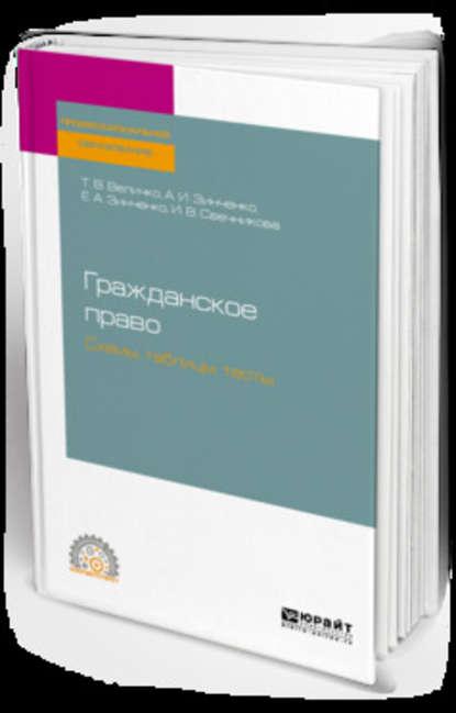 Обложка «Гражданское право. Схемы, таблицы, тесты. Учебное пособие для СПО»