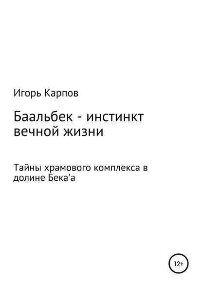 Обложка «Баальбек. Инстинкт вечной жизни»