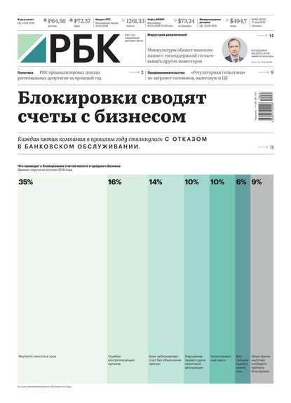 Обложка «Ежедневная Деловая Газета Рбк 66-2019»