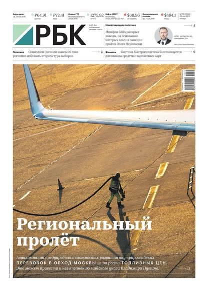 Обложка «Ежедневная Деловая Газета Рбк 75-2019»